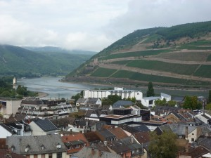Commanding view over the Rhine
